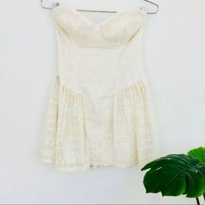 Nasty Gal strapless lace dress